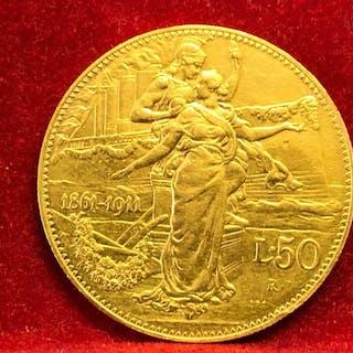 Italia - Regno d'Italia - 50 lire 1911 - Vittorio Emanuele III - Oro