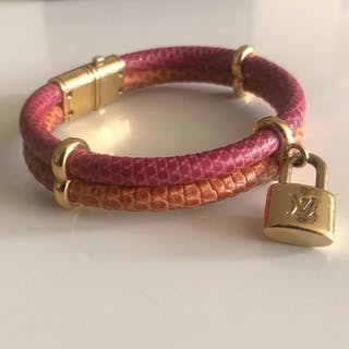 Louis Vuitton - Keep it twice Special edition Lizard Skin Multi colorBracelet