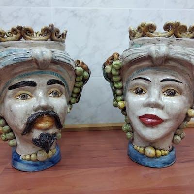 Caltagirone - Teste di moro (2) - Ceramica