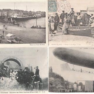 France - Divers - Cartes postales (Collection de 90) - 1905-1930