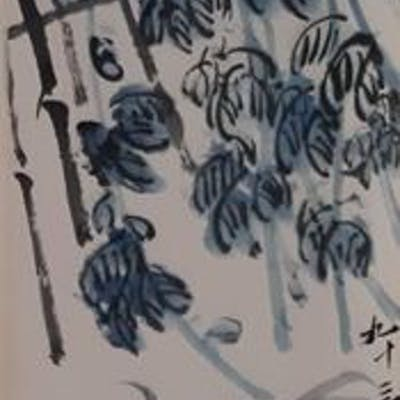 Ink painting - Chinese scroll painting on paper - In