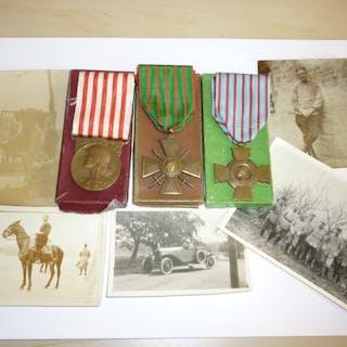 France - Lot de 3 médailles militaires de la guerre 14 18...