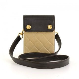 5dff88b6b4ffc3 Chanel - Quilted Leather 2 way Mini Bag Pouch Pochette