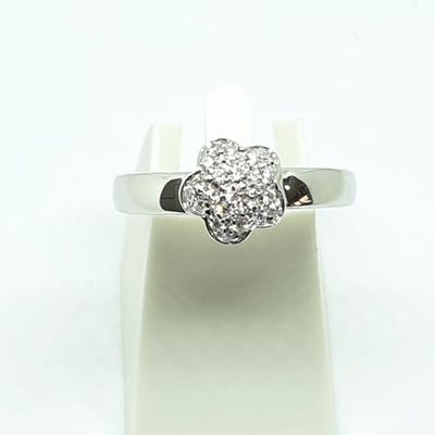 18 carati Oro bianco - Anello - 0.24 ct Diamante