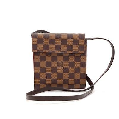 Louis Vuitton - Louis Vuitton Ebene Damier Canvas CD Case + Strap Shoulder bag