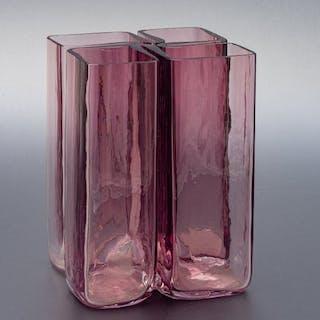 Alfredo Barbini - Segmented lilac vase - Glass