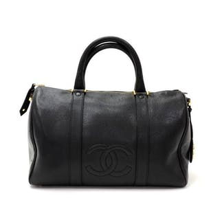 31180543e927 Chanel - Vintage Chanel Boston Speedy Black Caviar Leather Hand Bag Handbag