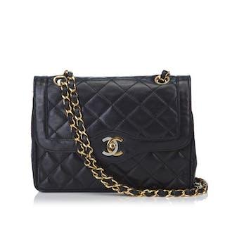 77bdccd0287e Chanel - Lambskin Matelasse Double Flap Bag Shoulder bag