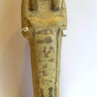 Égypte ancienne Céramique Oushebti de Dit-Mery - 12.1×3.5×2.6 cm