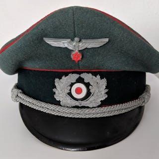 d7b03f32635613 Germany - Artillery Officer s Visor Cap (Schirmmütze für.