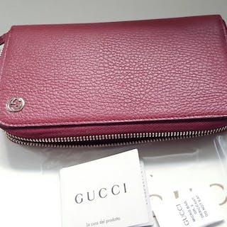 Gucci - Gucci neue Geldbörse Rundumverschluss Wallet GG...