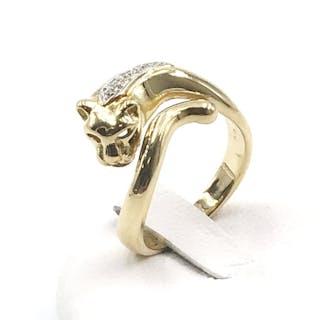 eb669e73a 18 kt. Yellow gold - Ring - 0.05 ct Diamond