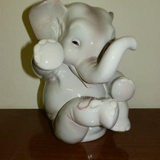 Lenci - Elefante con topolino su zampa - ceràmica