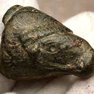 Ancient Roman Bronze Head of a Ram