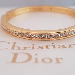 7fe8032361fa3e Christian Dior - gold plated rhinestoneBracelet – Current sales –  Barnebys.com
