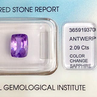 Purple to PinkColor Change Sapphire- 2.09 ct