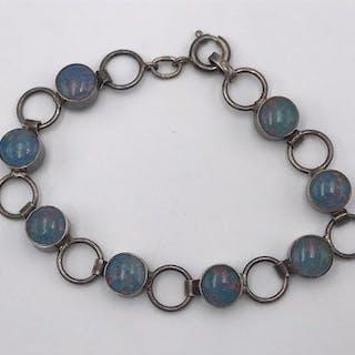 835 Silber - Armband, VINTAGE - Damen Armband in 835 Silber