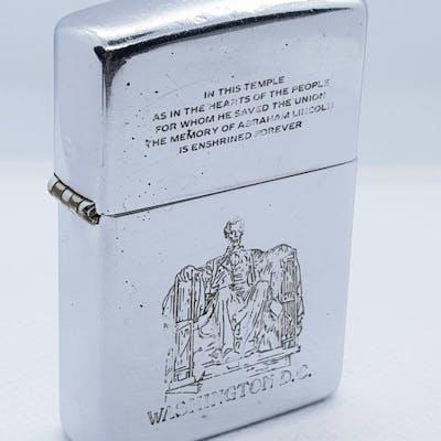 Zippo - Rare Zippo Lighter 1992 Washington D.C Abraham Lincoln - ca