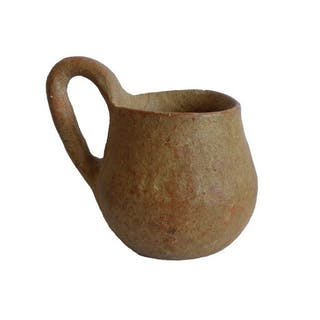 Prehistoric, Bronze Age Terracotta Pottery Cup - (1)