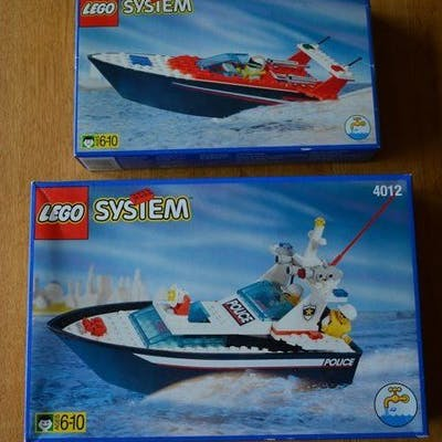 LEGO - Legoland - 4002+4012 - Ship Collection of 2 swimming Boats