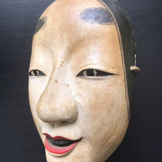 Noh-Maske - Holz - Magojiro 孫次郎 - Signed by the artist - Japan - 1958 (Showa 33)