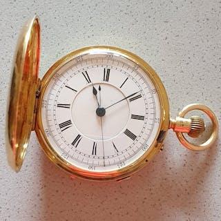 F.W - Englischer Gold Chronograph Savonette - Herren - England 1880