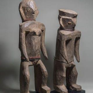 Ancestor figures - Wood - Losso - Togo
