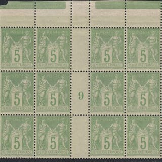 France 1898/1900 - Sage 5c vert-jaune Type I