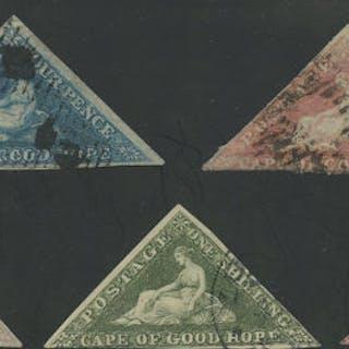Cape of Good Hope 1853/1863 - four pence blue