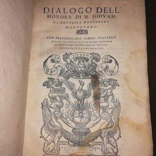 Giovanni Battista Possevino - Dialogo Dell'Honore - 1553
