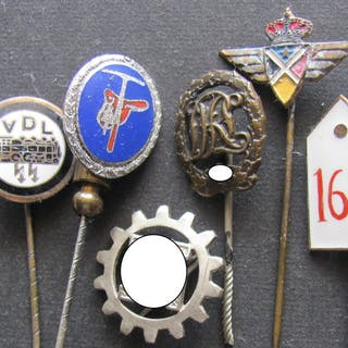 Deutschland - Orginal German 6 Abzeichen3.Reich-...