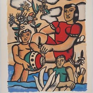 Fernand Léger (1881-1955)- Famille à la plage