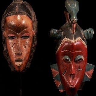 Maske (2) - Holz - Guro - Elfenbeinküste