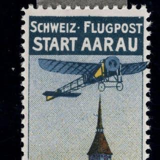 Schweiz 1913/1913 - Flugpost Vorläufer Aarau - Zumstein/SBK I; Michel I