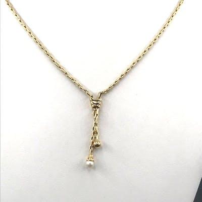 18 carati Oro giallo - Collana con pendente Perla