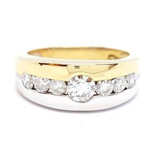 18 kts. Yellow gold - Ring - 0.18 ct Diamond - Diamond