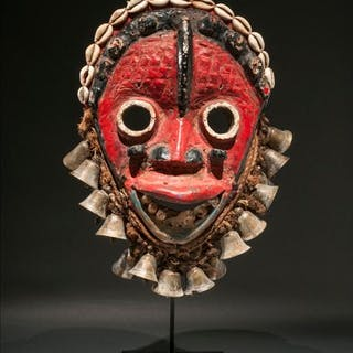 Mask - Wood - hardly - Ivory Coast