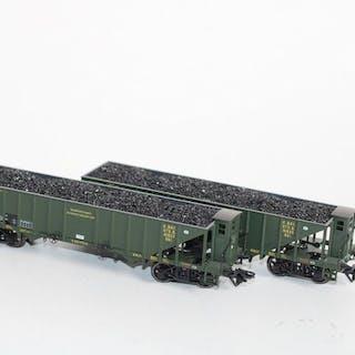 Trix H0 - 24302 - Güterwagen - Zweiteiliges Set mit Kohlenwagen - K.Bay.Sts.B