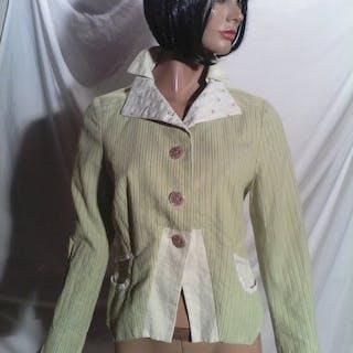 Kenzo - veste imprimé fleurie et à rayure - Taille: UE 38...