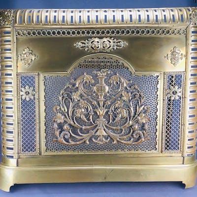 Fire screen - Louis XVI Style - Copper - Late 19th century