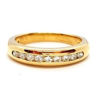 18 kts. Yellow gold - Ring - 0.18 ct Diamond