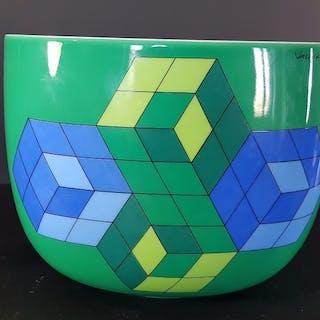 Victor Vasarely - Rosenthal / Studio Linie - Pot Cache / Plant - Porcelain