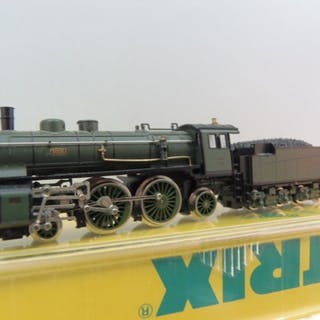 Minitrix N - 12035 - Dampflokomotive mit Tender - S 2/5 - K.Bay.Sts.B