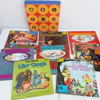 Walt Disney - 8 Cofanetto favole + disco  - Il...