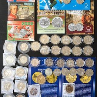 Österreich - 5-25 Euro - 2003-2016 Große Sammlung - Silber, Niob