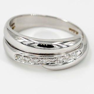 18 kts. White gold - Ring - 0.10 ct Diamond