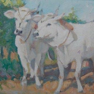 Paolo Coppini - Zwei Stiere