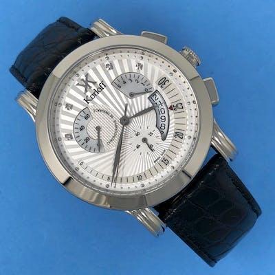 Korloff - Diamonds Chronograph Alligator Strap Swiss Made...