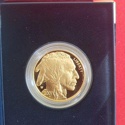 USA - 50 Dollar 2007 W - Buffalo/Indian - 1 Oz - Gold