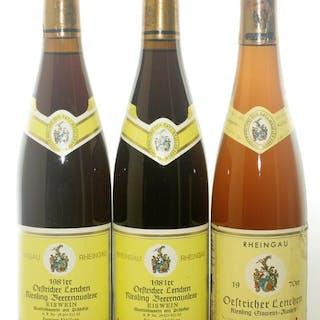 1970 & 1981 Eiswein - Oestricher Lenchen - Weingut Geheimrat J